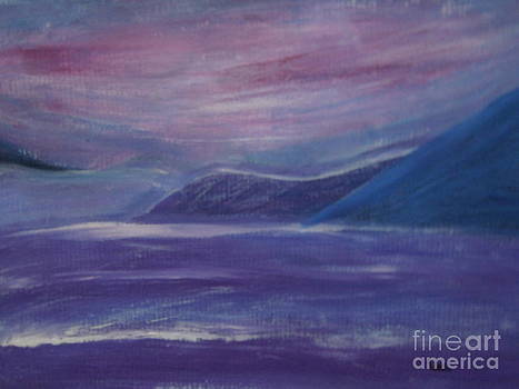 Purple Mountain Purple Sea by Lam Lam
