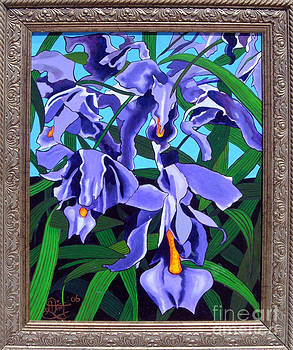 Purple Orchids by Annette Jimerson