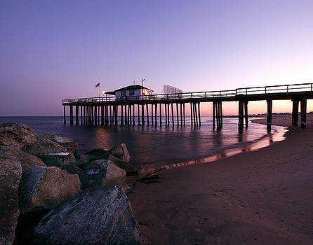 Purple Pier by Kelly S Andrews