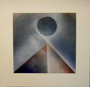Pyramid and Blue Moon by James Howard