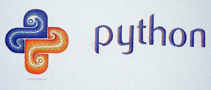 Python logo by Andrew Zeutzius