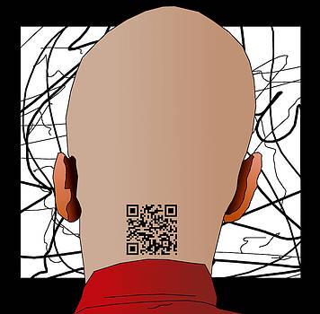 QR Code Tattoo by Casino Artist