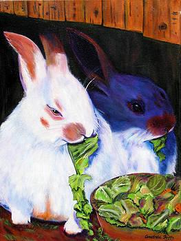 Rabbits Dining by Andrea Folts