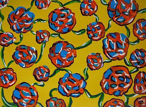Rainbow flowers yellow by Gioia Albano