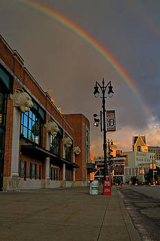 Rainbow for Detroit by Dave Manning