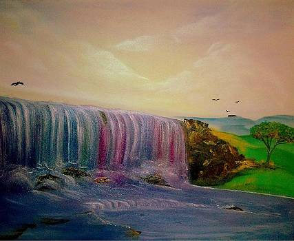 Rainbow waterfall by Nicole Champion