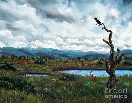 Laura Iverson - Raven in a Bleak Landscape