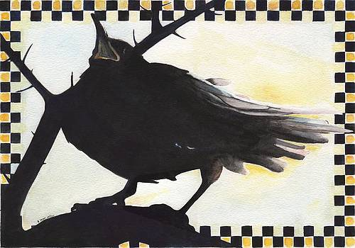 Raven in the Thornbush by A Leon Miler