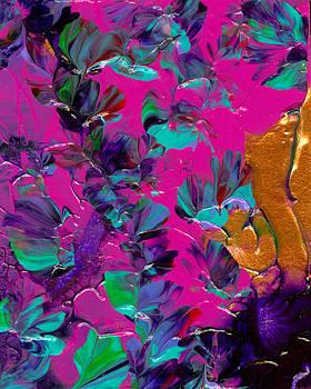 Razberry Ocean of Butterflies by Nan Bilden