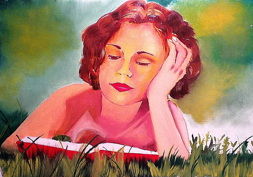 Reading Woman I by Graciela Scarlatto