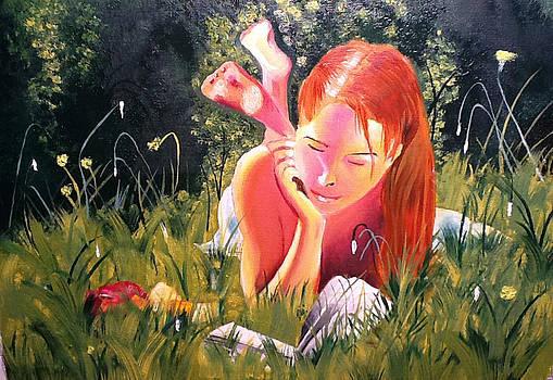 Reading Woman II by Graciela Scarlatto