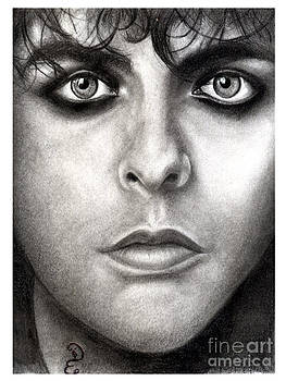 Realistic Pencil Drawing of  Billie Joe Armstrong Green Day by Debbie Engel