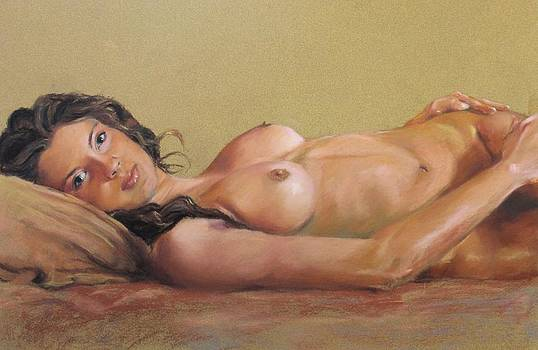 Reclined Nude by Marco  Antonio