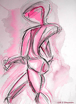 Red Abstract Nude by M C Sturman