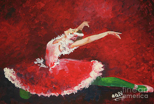 Red ballerina by Nicu Alina
