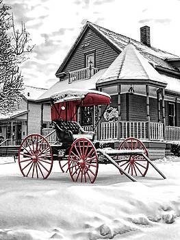 Red Buggy At Olmsted Falls - 2 by Mark Madere