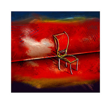 Red chair - Silla roja by Marcelo Itkin