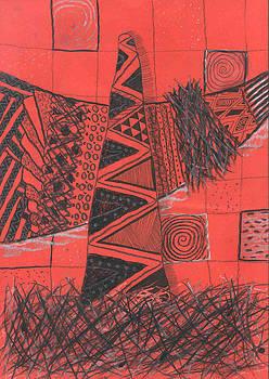 Red Landscape by Branko Jovanovic