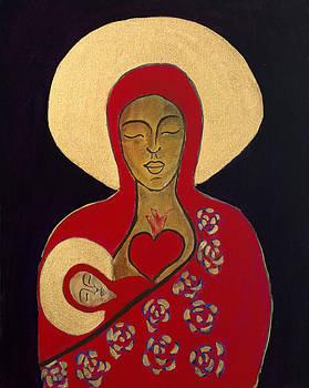 Red Madonna  by Mary Schilder