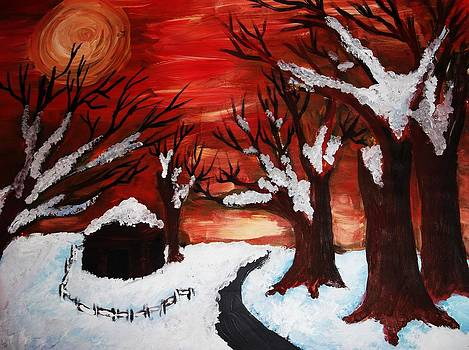 Red Night by Annamaria Shkurti
