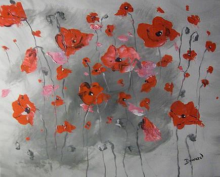 Red Poppies by Raymond Doward