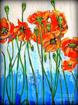 Red poppies by Tatjana Andre