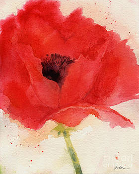 Red Poppy for Georgia by Sheila Golden