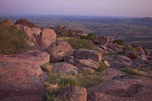 Red Rock Wichitas At Sunset by Terry Hollensworth-Rutledge