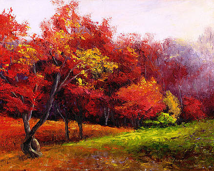 Red Tree by Elaine Farmer