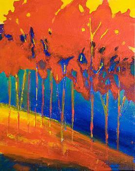Red Trees by Barbara Barry-Nishanian
