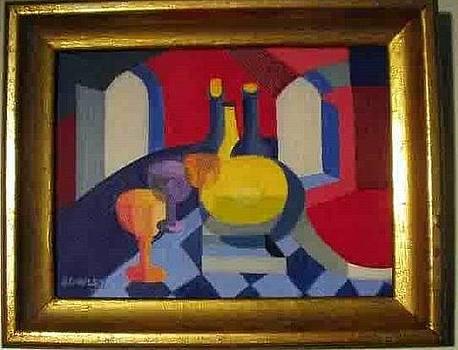 Red Vase by John Sowley