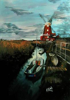Red windmill by Nicu Alina
