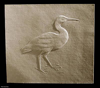 Relief bird on paper by Suhas Tavkar