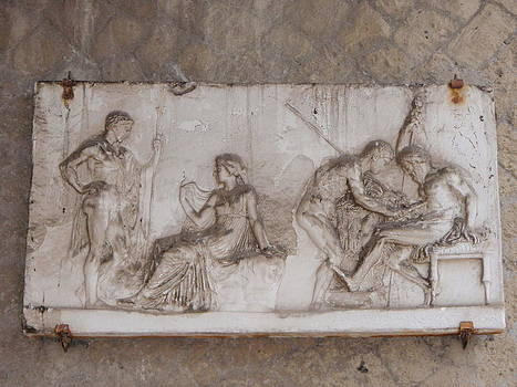 Relief of Murder at the Amphitheater at Pompeii by Gina Clayton-Tarvin