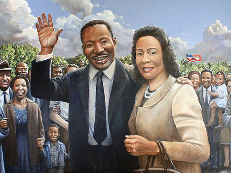 Rev. Dr. King and Mrs. King by Ma Ly