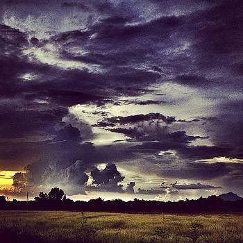 Riders Of The Storm #sky #clouds #drama by Maura Aranda