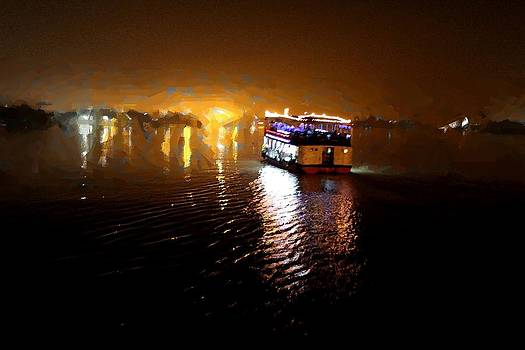 River Boat by Shiladitya Sinha