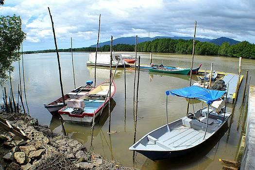 River Boats by Ku Azhar Ku Saud