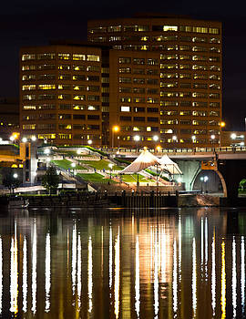 River Front At Night by Frank Pietlock