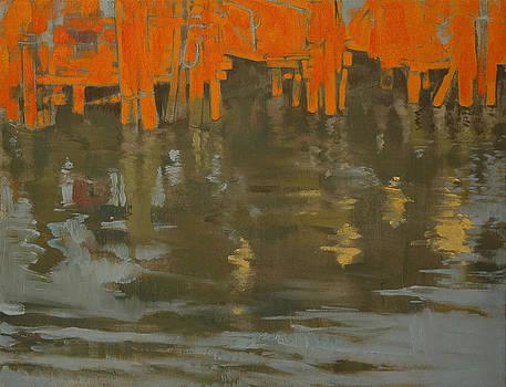 River Pier by Amy Bernays