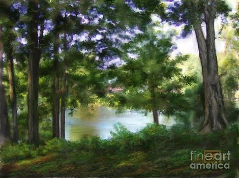 Riverside View Landscape by Judy Filarecki