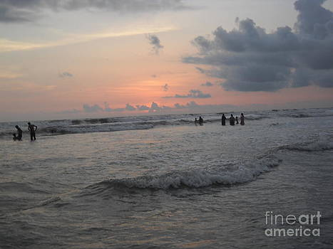 Roaring sea at sun set by Bgi Gadgil