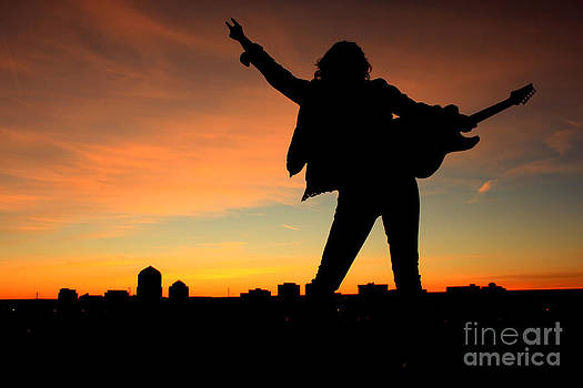 Rock and Roll Sunset by Val Armstrong