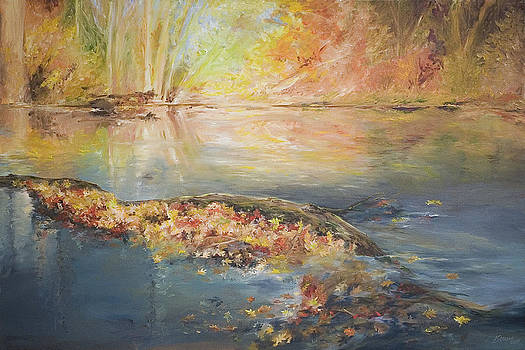 Rockaway River in Fall by John and Lisa Strazza