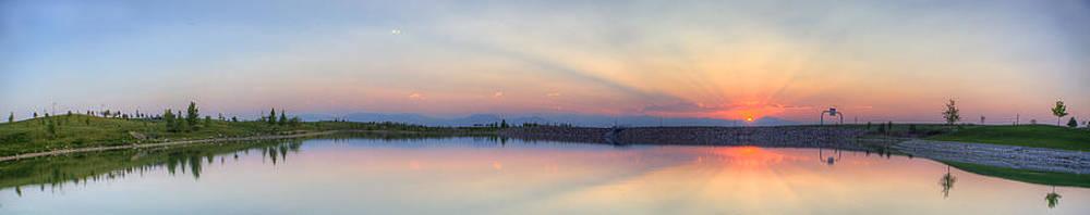 Rocky Mountain Sunset - Panorama HDR by Jonathan Bartlett