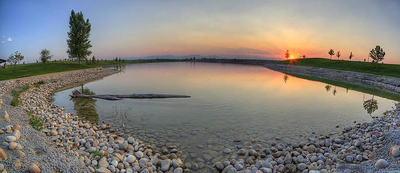 Rocky Mountain Sunset - Sky on Fire by Jonathan Bartlett