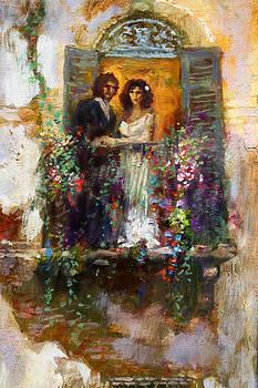 Ylli Haruni - Romance in Venice  fragment balcony