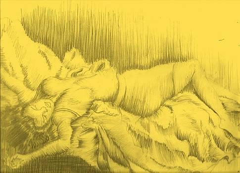 Romantic and selfless sleeping by Isaac Bineyson