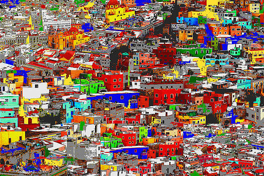 Rooftops of Guanajuato by Natalie Golay