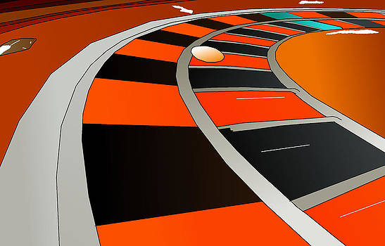 Roulette Table Close Up by Casino Artist